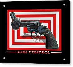 Gun Control Acrylic Print by Mike McGlothlen