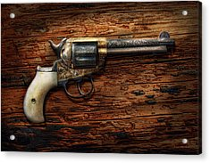 Gun - Police - True Grit Acrylic Print by Mike Savad