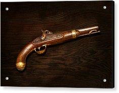 Gun - Us Pistol Model 1842 Acrylic Print by Mike Savad