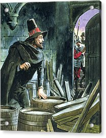 Guy Fawkes, From Peeps Into The Past Acrylic Print by Trelleek