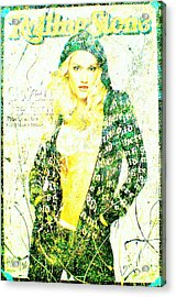 Gwen Acrylic Print by Chris Cloud
