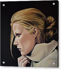 Gwyneth Paltrow Painting Acrylic Print by Paul Meijering