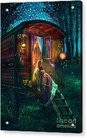 Gypsy Firefly Acrylic Print by Aimee Stewart