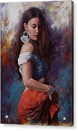 Gypsy Acrylic Print by Harvie Brown