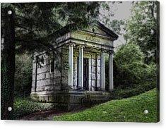 H C Ford Mausoleum Acrylic Print by Tom Mc Nemar