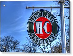 H-c Sinclair Gasoline Acrylic Print by David Simons