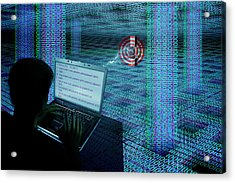 Hacking The Internet Acrylic Print by Carol & Mike Werner