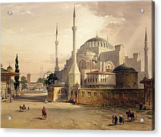 Haghia Sophia, Plate 17 Exterior View Acrylic Print by Gaspard Fossati