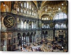 Hagia Sophia Interior Acrylic Print by Joan Carroll
