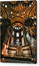 Hagia Sophia Interior Acrylic Print by Stephen Stookey