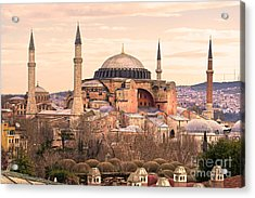 Hagia Sophia Mosque - Istanbul Acrylic Print by Luciano Mortula