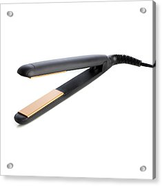 Hair Straighteners Acrylic Print by Science Photo Library