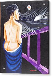 Hale Popp Hand Embroidery Acrylic Print by To-Tam Gerwe