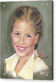 Haley  Acrylic Print by Diane Strain
