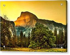 Half Dome Sunrise Acrylic Print by Az Jackson