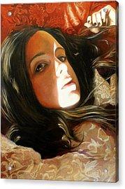 Half Masked Acrylic Print by Tim Davis