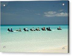 Half Moon Cay Bahamas Beach Scene Acrylic Print by David Smith