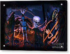 Halloween Ghost Party Acrylic Print by Charline Xia