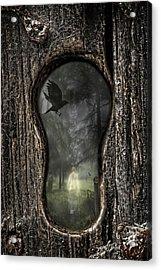 Halloween Keyhole Acrylic Print by Amanda And Christopher Elwell