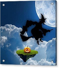 Halloween Night Is Approaching Acrylic Print by Marvin Blaine