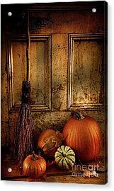 Halloween Night Acrylic Print by Sandra Cunningham