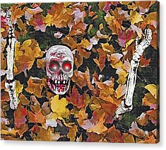Halloween Skeleton Acrylic Print by Steve Ohlsen