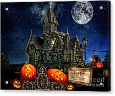 Halloween Spot Acrylic Print by Mo T