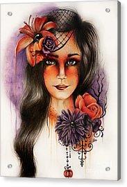 Hallows Eva Acrylic Print by Sheena Pike