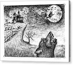 Hallows Eve Acrylic Print by Karen Sirard
