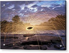 Halo On The American River Acrylic Print by Lee Harland