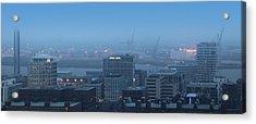 Hamburg Hafencity Panorama Acrylic Print by Marc Huebner