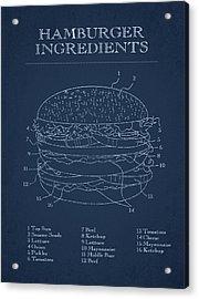 Hamburger Acrylic Print by Aged Pixel
