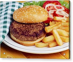 Hamburger & French Fries Acrylic Print by The Irish Image Collection