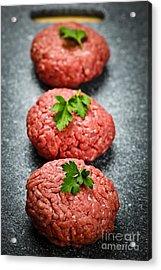 Hamburger Patties Acrylic Print by Elena Elisseeva