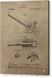 Hammer Patent Drawing Acrylic Print by Dan Sproul