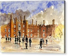 Hampton Court Palace London  Acrylic Print by Juan  Bosco