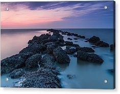 Hampton Seascape Acrylic Print by Ian Hufton