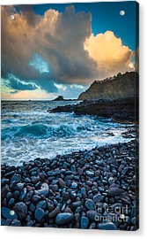 Hana Bay Pebble Beach Acrylic Print by Inge Johnsson