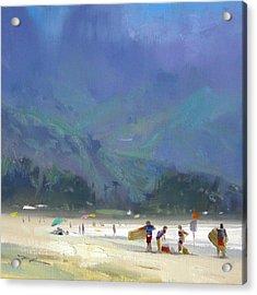 Hanalei Bay Acrylic Print by Richard Robinson