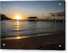 Hanalei Bay Sunset Acrylic Print by Brian Harig
