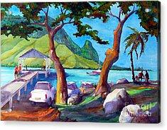 Hanalei Pier Acrylic Print by Jerri Grindle