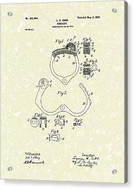 Handcuff 1899 Patent Art Acrylic Print by Prior Art Design