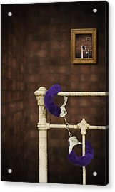 Handcuffs Acrylic Print by Amanda And Christopher Elwell