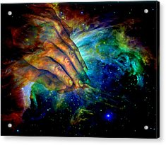 Hands Of Creation Acrylic Print by Evelyn Patrick