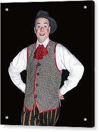 Handsome Clown At The Circus Acrylic Print by Susan Leggett