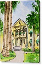 Hanford - California Sketchbook Project Acrylic Print by Irina Sztukowski