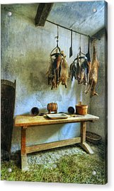Hanging Game Acrylic Print by Ian Mitchell