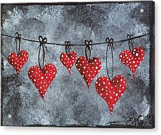 Hanging On To Love Acrylic Print by Oddball Art Co by Lizzy Love