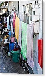 Hanging Towels Acrylic Print by Tom Gowanlock