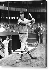 Hank Greenberg Stance And Swing Acrylic Print by Retro Images Archive